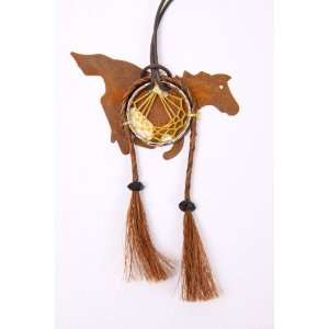 Rustic Metal Running Horse Dream Catcher Everything Else