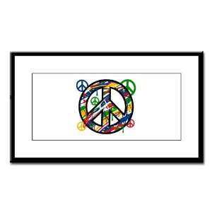 Small Framed Print Peace Symbol Sign Dripping Paint