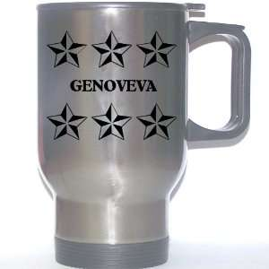 Personal Name Gift   GENOVEVA Stainless Steel Mug (black