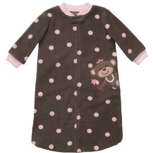 Carters Baby Girl 0 9 Months Polka Dot Monkey Sleep Bag Baby