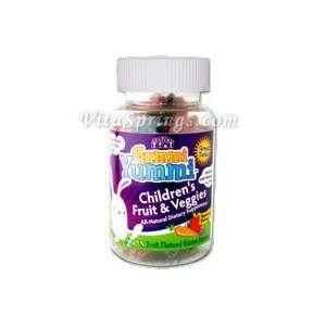 Gummi Yummi Childrens Fruit & Veggies, 60 Gummi Bunnies