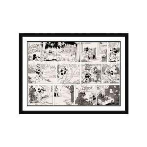 Disney Framed Art Mickey on the Fairway Children Kids
