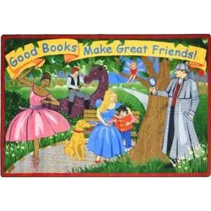 Good Books Make Good Friends Library Rug