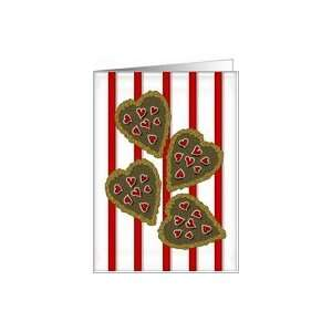 Valentines Day, Smart Cookie Hearts Card Health