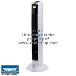 Draper Remote Control Oscillating Tower Fan 240V : Tooled Up