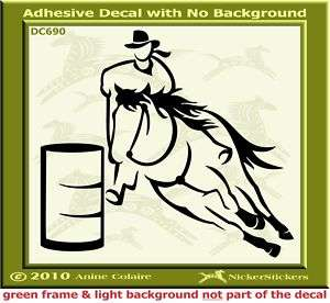Barrel Racing Horse Window Trailer Decal Sticker 690