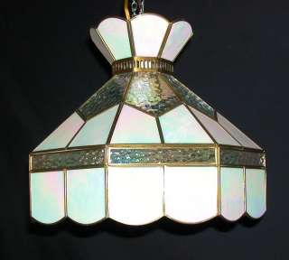 Tiffany Style Stained Glass Hanging Lamp Light Fixture #62 Swag Style