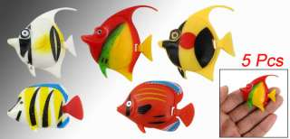 Aquarium Tank Plastic Tropical Fish Decoration 5 Pcs