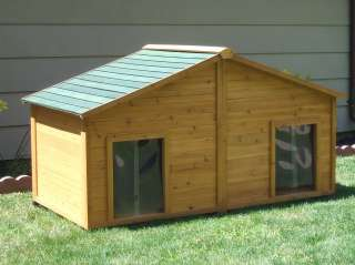 SIMPLY CEDAR INSULATED DUPLEX DOG HOUSE LARGE SIZE