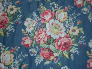 Ralph Lauren Kimberly Sheet Blue Floral Twin Flat Fabric Cotton