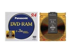 Panasonic 9.4GB 3X DVD RAM Single Double sided Disc Model LM HB94LU