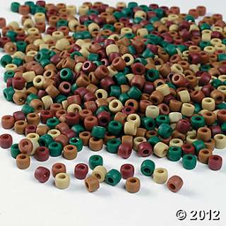 Earthtone Pony Beads, Kids Beading Supplies, Art & Craft Supplies