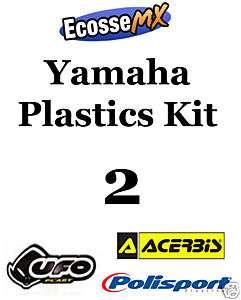 UFO Yamaha PLASTICS KIT 2 Motocross YZ250 06 09 WHITE