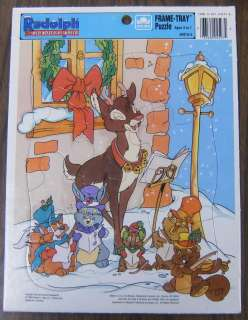 Rudolph Red Nosed Reindeer Golden Frame Tray Puzzle