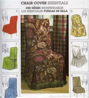 Straight Parsons Folding Chair Slipcover Pattern Cover