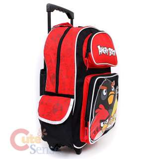 Rovio Angry Brids School Roller Backpack Rolling Lunch Bag 3 Birds 3