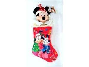 Disney Mickey Mouse   Minnie 3D Plush 22 Christmas Stocking