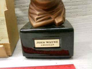 JOHN WAYNE AMERICAN WHISKEY DECANTER Mike Kentucky old RARE FIND