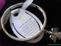 Sister Angel WingS Message Charm stretch BRACELET/