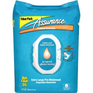 Assurance Extra Large Pre Moistened Disposable Washcloths