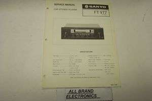 SANYO FTV77 CAR STEREO PLAYER SERVICE MANUAL H/C