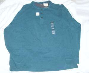 Mens St Johns Bay Blue Henley Jersey Shirt XXL/XXG