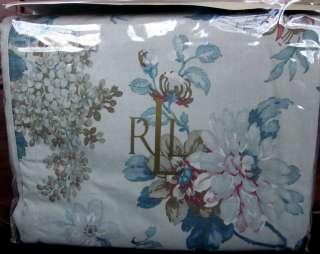 HOUSE Floral Blue Tan Full Queen Duvet Comforter Cover + Shams