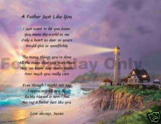 Personalized Dad Poem Father Gift Lighthouse Print