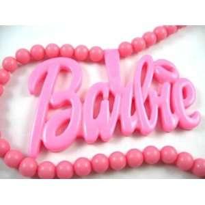 NEW NICKI MINAJ BARBIE Pink Pendant w/ 18 Ball Chain Large Jewelry