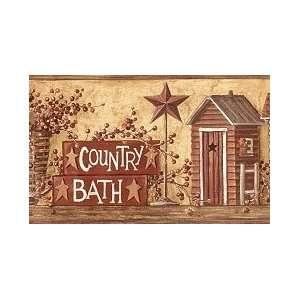 Country Bath Wallpaper Border: Home Improvement