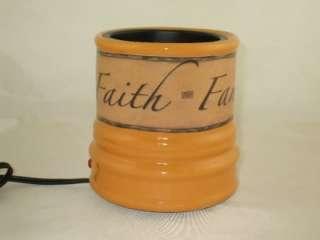 ELECTRIC JAR CANDLE WARMER FAITH FAMILY FRIENDS CCFFF Beanpod & Yankee