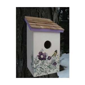 com Printed Salt Box Birdhouse Anemone (Bird Houses) Everything Else