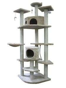 New 80 Beige Cat Tree Condo Furniture Scratch Post Pet House 38B