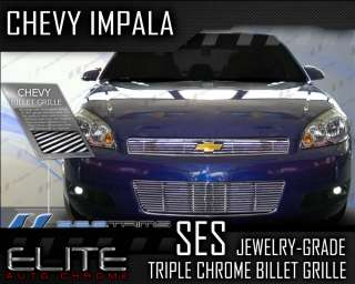 chevy impala ses chrome billet grille top bottom ses trims jewelry