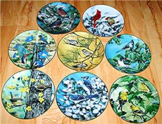 FAVORITE AMERICAN SONGBIRDS PLATE SET CARDINALS BIRDS