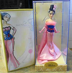Disney Store Princess Designer MULAN Collectible Doll   LE 3179