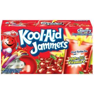 Kool Aid Jammers Cherry Juice Drinks, 60 oz, 10ct Beverages