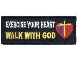 your Heart Walk with God Christian Biker Patch: Everything Else