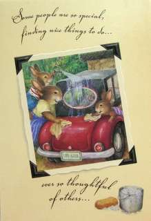 Holly Pond Hill Bunny Rabbits Car Wash Thank You Card