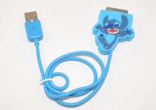 Disney Stitch USB Data Line Charging Cable iPod iPhone
