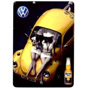 Corona Extra Volkswagen METAL beer sign   VW   Cerveza