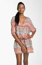 Haute Hippie Print Silk Faux Wrap Dress $445.00