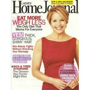 Ladies Home Journal Magazine March 2010 Katie Couric   How to Feel