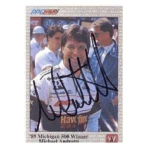 Michael Andretti Autograph/Signed Card