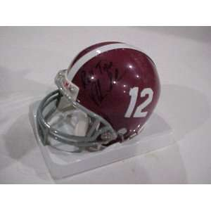 NICK SABAN AUTOGRAPHED HAND SIGNED ALABAMA TIDE OFFICIAL MINI HELMET