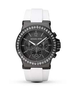 MICHAEL Michael Kors Round Black & White Watch, 43mm   Watches