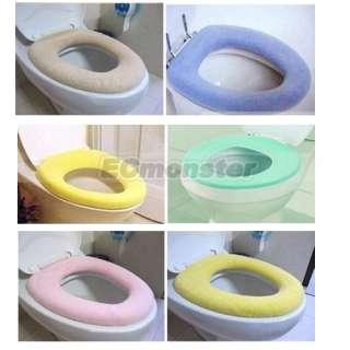 Bathroom Toilet Washable Warmer Seat Cloth Cover Pads color random
