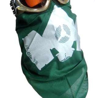 GAS MASK~ Army Green INSTA FACE BANDANA motorcycle snowboard ski mask