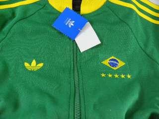 Adidas World Cup Retro Brazil Soccer Green/Yellow Track Futball Jacket