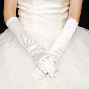 Bridal Satin Gloves for Wedding Opera Prom Dress Suit Party Evening